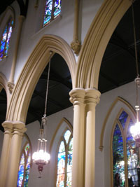 arches of nave, ca. 2007