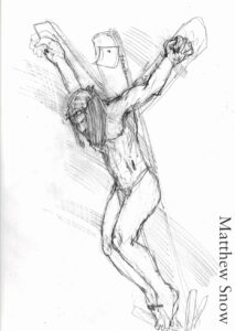 Drawing of Jesus on the Cross