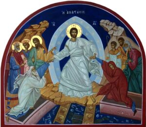 Orthodox icon depicting Christ's descent into hell