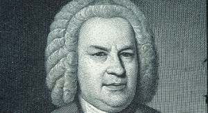 Portrait of Johann Sebastian Bach (1685-1750), German composer. Engraving.