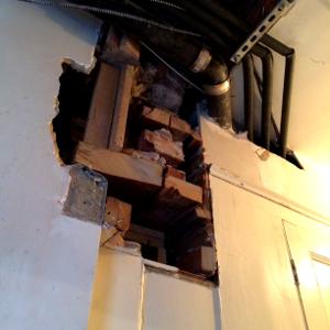 image of rectory before repair work
