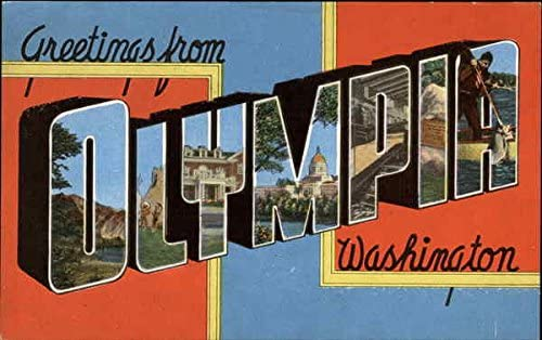 Greetings from Olympia Washington postcard