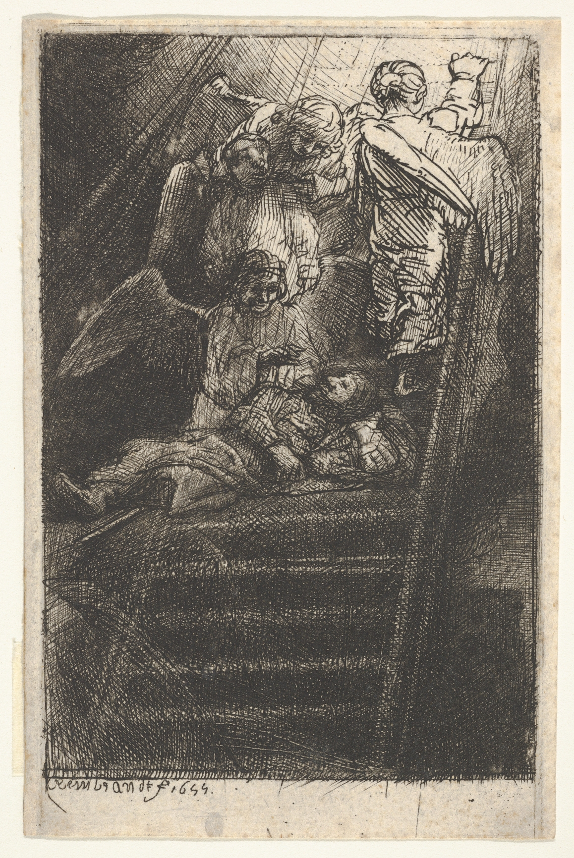 Jacob's Ladder, by Rembrandt (1655)